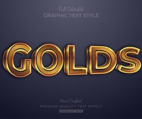 Graphic text style vector