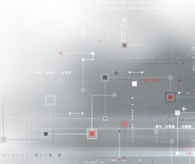 Gray tech abstraction background vector