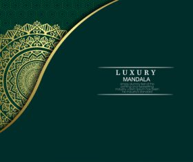 Green background luxury mandala vector
