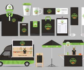 Green black business suit design vector