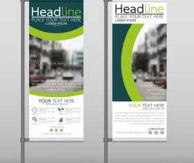 Green blue business stand banner vector