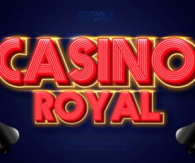 Grsino royal 3d text style vector