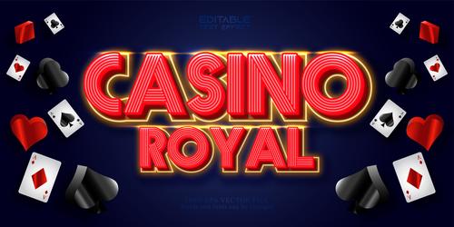 Grsino royal 3d text style vector
