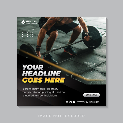 Gym flyer vector