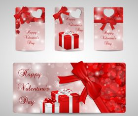 Happy Valentines day label design vector