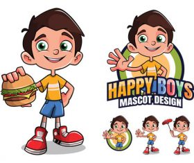 Happy boy cartoon design vector