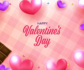 Heart shaped and chocolate background vector