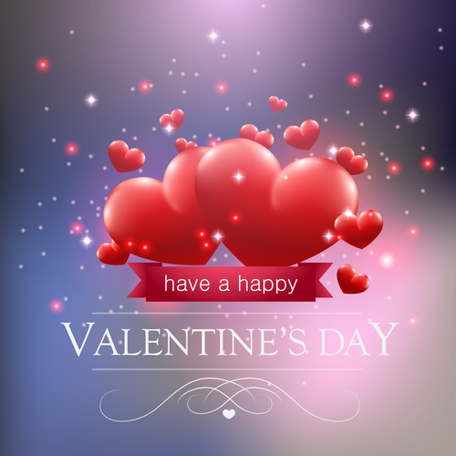 Heart shaped background valentine day vector