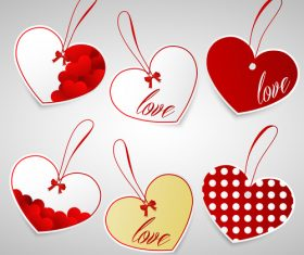 Heart shaped label design vector