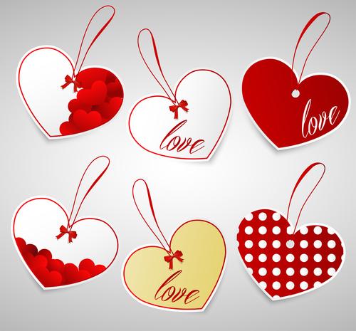 Heart shaped label design vector
