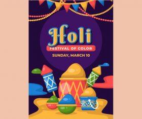 Holi festival color poster vector