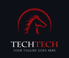 Horse abstract logo design vector
