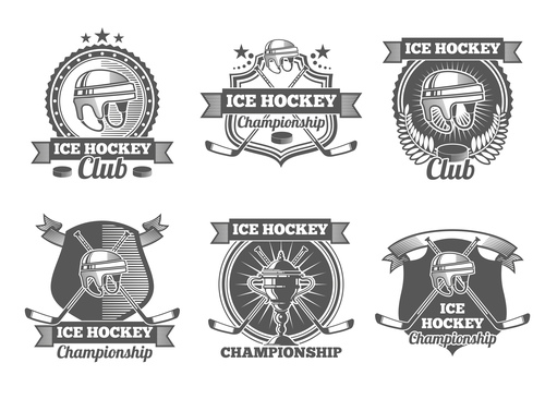 Ice hockey club emblem vector