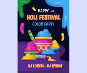 India happy Holi festival poster vector