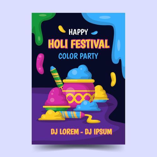 India happy Holi festival poster vector