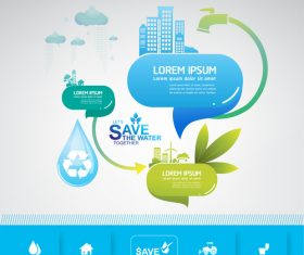 Infographic water conservation vector
