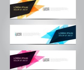 Irregular graphic banner vector