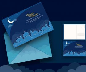 Islamic holiday greeting card vector