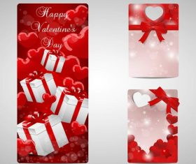 Label design Valentines day vector