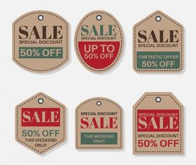 Large sale flat label design vector