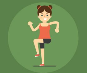 Leg exercise icon vector