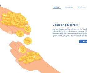 Lend and borrow concept illustration vector
