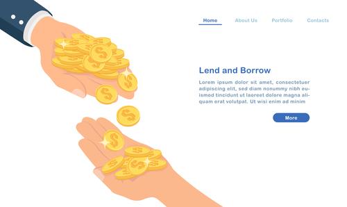 Lend and borrow concept illustration vector
