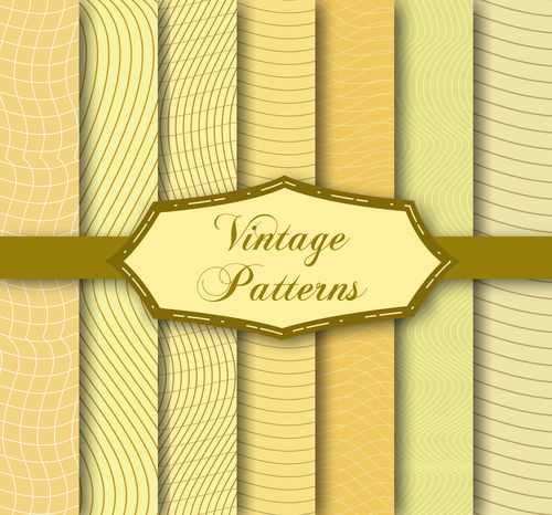 Light yellow seamless pattern set background vector