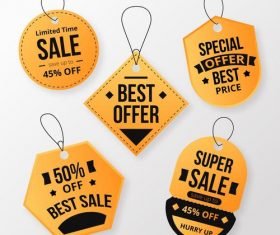 Limited time sale flat label design vector