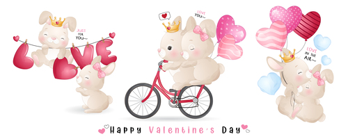 Love in the air Valentines Day confession theme greeting card vector