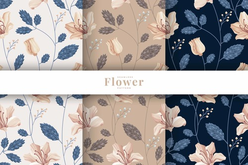 Luxury flower pattern collection vector