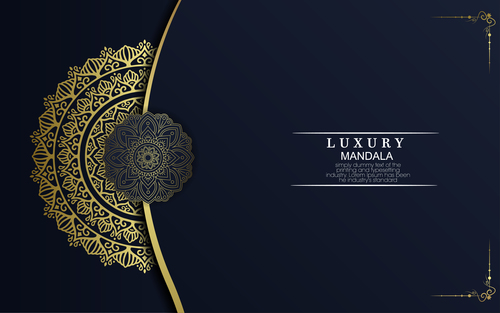 Luxury mandala vector
