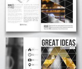 Magazine cover design template vector