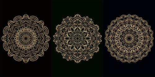 Mandala flower style decorative pattern vector