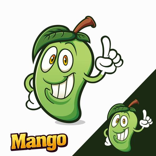 Mango mascot characters logo vector