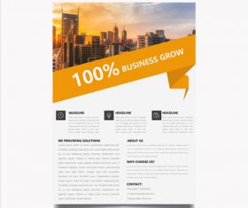 Marketing flyer vector