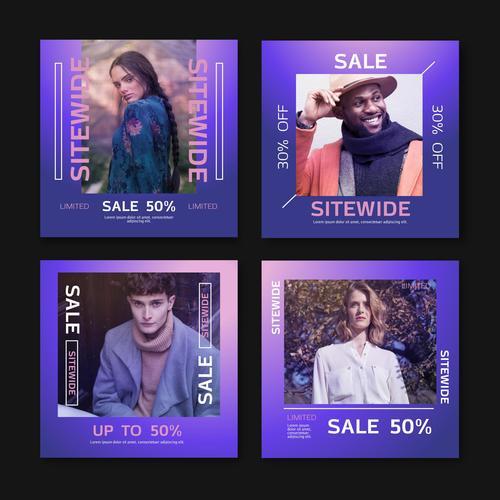Mega sale advertising template vector