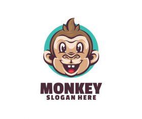 Monkey fun logo template vector