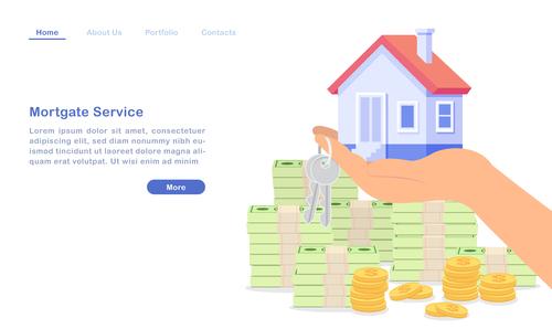 Mortgate service concept illustration vector