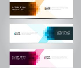 Mosaic background banner vector