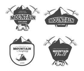 Mountain explorer emblem vector