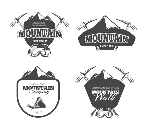 Mountain explorer emblem vector