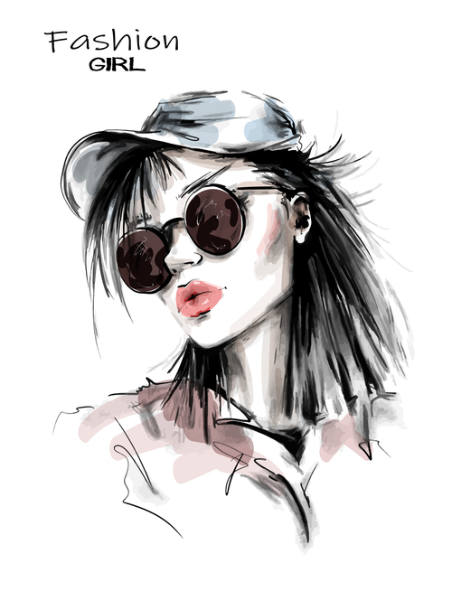 My style watercolor painting vector