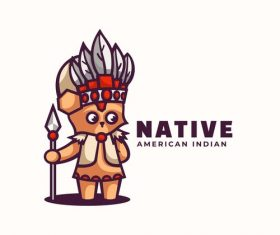 Native cartoon vector