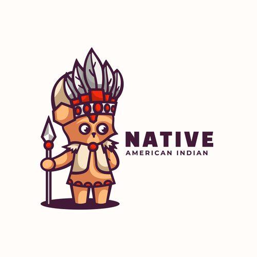 Native cartoon vector