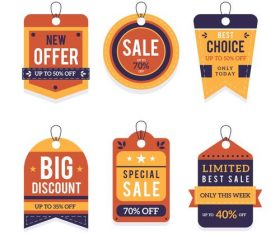 New offer sale flat label design vector