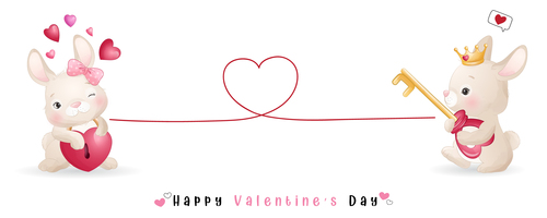 Open heart lock Valentines Day theme greeting card vector
