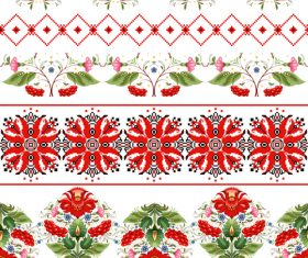 Optional decoration Ukrainian custom pattern vector