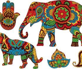 Ornament animal pattern vector
