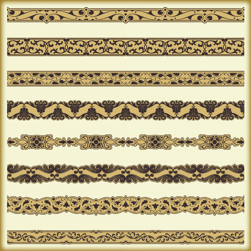 Ornaments yellow pattern in vector